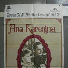 Cine: CDO 1453 ANA KARENINA GRETA GARBO ALBERTO POSTER ORIGINAL 70X100 ESPAÑOL R-74. Lote 201204947