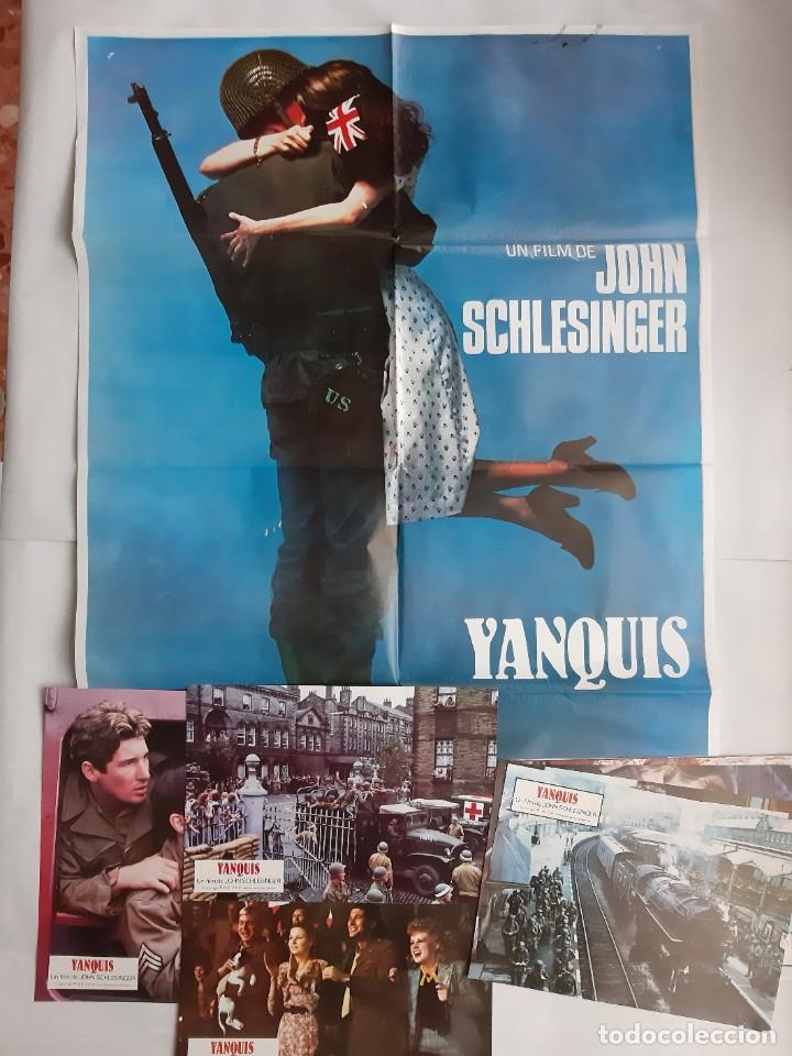 ANTIGUO CARTEL CINE YANQUIS + 12 FOTOCROMOS 1980 CC68 (Cine - Posters y Carteles - Acción)