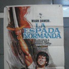 Cine: CDO 1467 LA ESPADA NORMANDA MARK DAMON LUIS DAVILA JANO POSTER ORIGINAL 70X100 ESTRENO. Lote 201209170