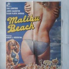 Cine: ANTIGUO CARTEL CINE MALIBU BEACH + 12 FOTOCROMOS 1979 CC71. Lote 201209335