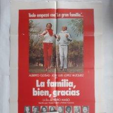 Cine: ANTIGUO CARTEL CINE LA FAMILIA BIEN GRACIAS + 12 FOTOCROMOS 1979 CC74. Lote 201210501