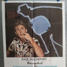 Cine: RECUERDOS A BROAD STREET. PAUL MCCARTNEY, BRYAN BROWN, RINGO STARR AÑO 1984. POSTER ORIGINAL. Lote 210818636