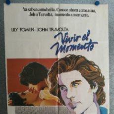 Cinéma: VIVIR EL MOMENTO. LILY TOMLIN, JOHN TRAVOLTA. AÑO 1979. POSTER ORIGINAL . Lote 201239378