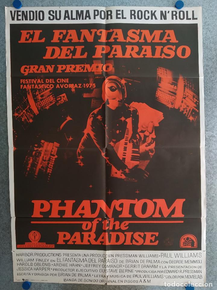 EL FANTASMA DEL PARAÍSO. BRIAN DE PALMA, PAUL WILLIAMS, JESSICA HARPER. AÑO 1975. POSTER ORIGINAL (Cine - Posters y Carteles - Musicales)