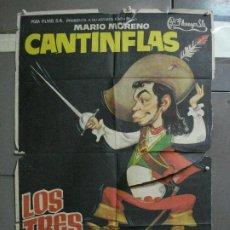 Cine: CDO 1478 LOS TRES MOSQUETEROS CANTINFLAS JANO POSTER ORIGINAL 70X100 ESPAÑOL R-70. Lote 201309970