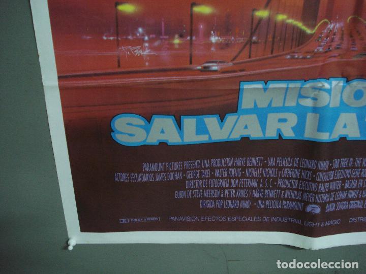 Cine: CDO 1493 STAR TREK 4 MISION SALVAR LA TIERRA WILLIAM SHATNER NIMOY BOB PEAK POSTER 70X100 ESTRENO - Foto 5 - 201315055