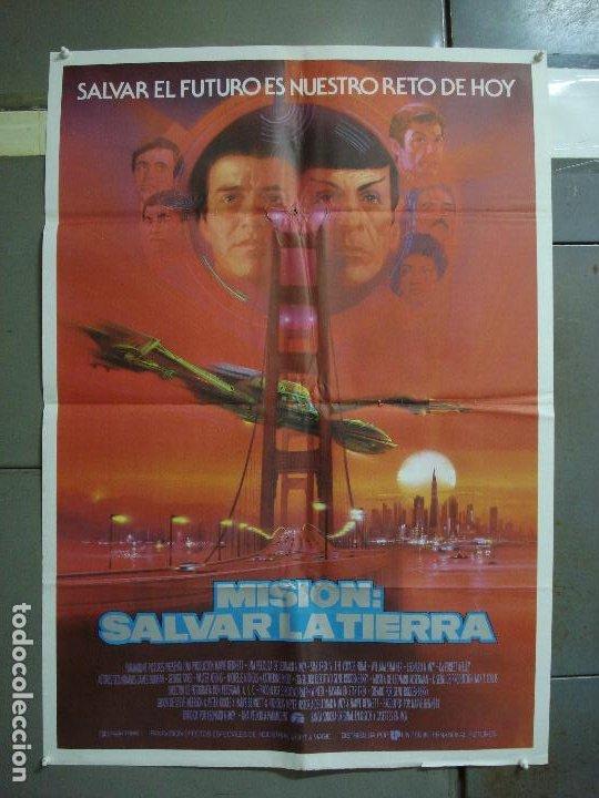CDO 1493 STAR TREK 4 MISION SALVAR LA TIERRA WILLIAM SHATNER NIMOY BOB PEAK POSTER 70X100 ESTRENO (Cine - Posters y Carteles - Ciencia Ficción)
