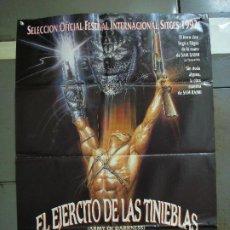 Cine: CDO 1502 EL EJERCITO DE LAS TINIEBLAS EVIL DEAD 3 SAM RAIMI POSTER ORIGINAL 70X100 ESTRENO. Lote 201316033