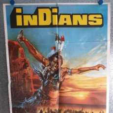 Cine: INDIANS. JOHN WHITMORE. AÑO 1978. POSTER ORIGINAL. Lote 269096558