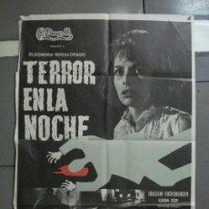 Cine: CDO 1547 TERROR EN LA NOCHE THE CARPET OF HORROR ROSSI DRAGO POSTER ORIGINAL ESTRENO 70X100. Lote 201489051
