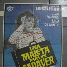 Cine: CDO 1548 UNA MALETA PARA UN CADAVER GIALLO TERROR ESPAÑOL JANO POSTER ORIGINAL 70X100 ESTRENO. Lote 201489612
