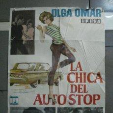 Cine: CDO 1557 LA CHICA DEL AUTO STOP OLGA OMAR VICTOR VALVERDE MIGUEL LLUCH POSTER ORIGINAL ESTRENO 70X10. Lote 201503592