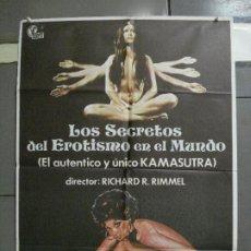 Cine: CDO 1573 LOS SECRETOS DEL EROTISMO EN EL MUNDO SEXPLOITATION POSTER ORIGINAL 70X100 ESTRENO. Lote 201510738