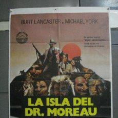 Cine: CDO 1605 LA ISLA DEL DR. MOREAU BURT LANCASTER POSTER ORIGINAL 70X100 ESTRENO. Lote 201610677