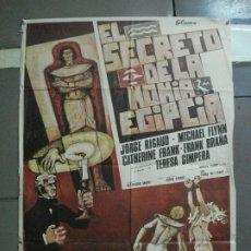 Cine: CDO 1615 EL SECRETO DE LA MOMIA EGIPCIA FRANK BRAÑA TERESA GIMPERA POSTER ORIGINAL 70X100 ESTRENO. Lote 201617726