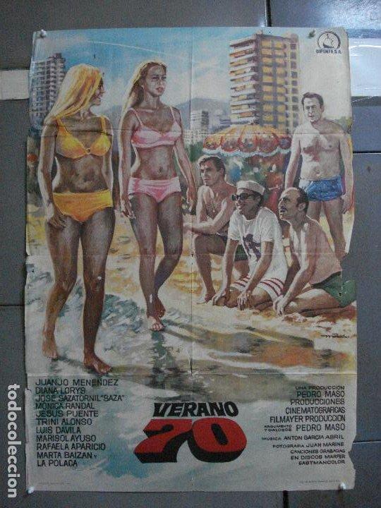CDO 1618 VERANO 70 JUANJO MENENDEZ JESUS PUENTE JOSE SAZATORNIL SAZA MAC POSTER 70X100 ORIG ESTRENO (Cine - Posters y Carteles - Clasico Español)