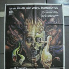 Cine: CDO 1633 RE-SONATOR FROM BEYOND STUART GORDON H P LOVECRAFT MAC POSTER ORIGINAL 70X100 ESTRENO. Lote 201636773