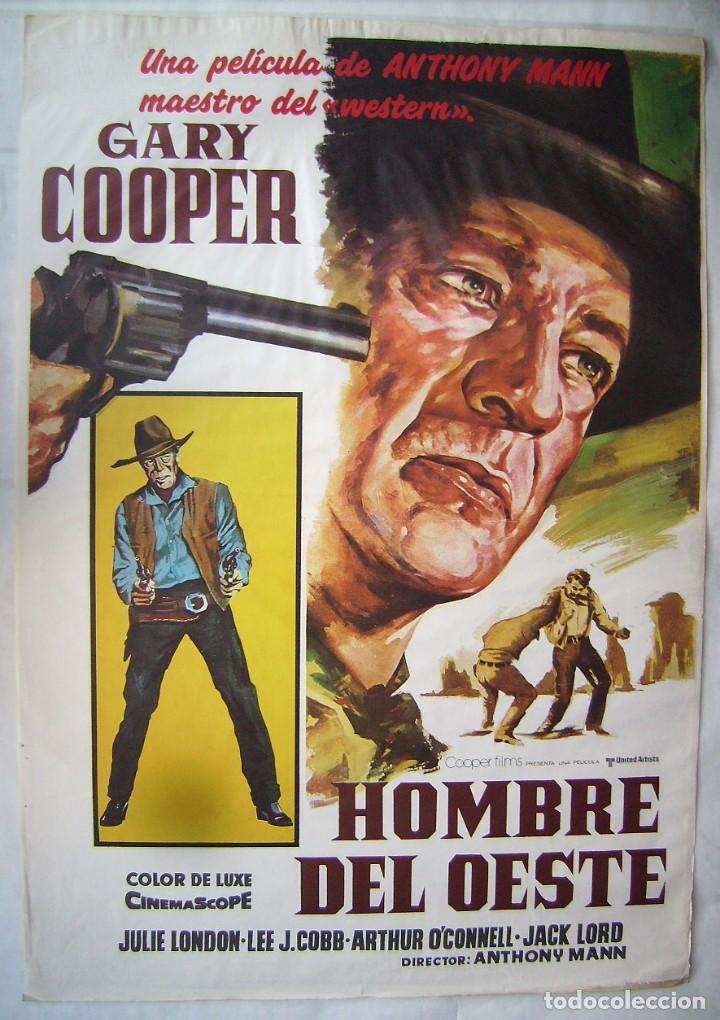 HOMBRE DEL OESTE, CON GARY COOPER. POSTER REPOSICIÓN 70 X 100 CMS. 1986. (Cine - Posters y Carteles - Westerns)