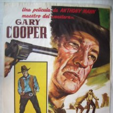 Cine: HOMBRE DEL OESTE, CON GARY COOPER. POSTER REPOSICIÓN 70 X 100 CMS. 1986.. Lote 289707523