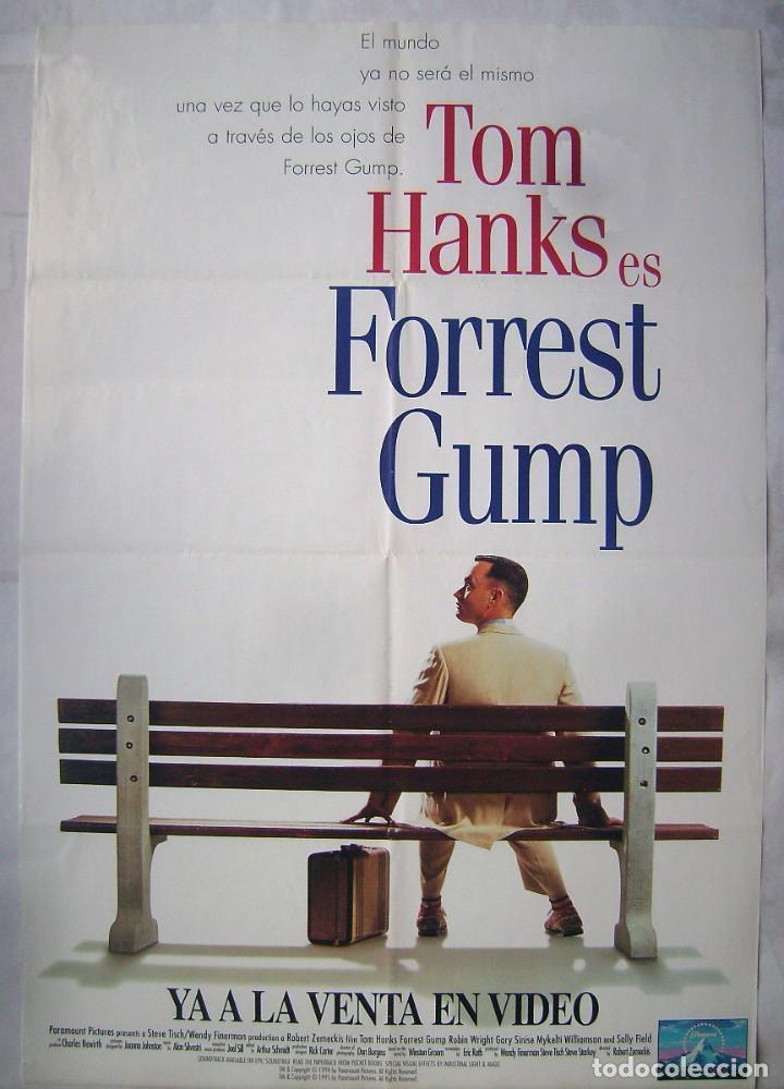 FORREST GUMP, CON TOM HANKS. POSTER VIDEO 67,5 X 98 CMS. 1994. (Cine - Posters y Carteles - Deportes)