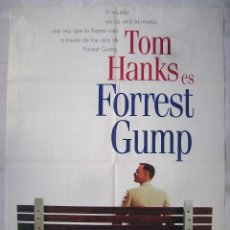 Cine: FORREST GUMP, CON TOM HANKS. POSTER VIDEO 67,5 X 98 CMS. 1994.. Lote 201712896
