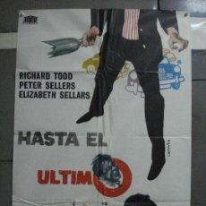 Cine: CDO 1660 HASTA EL ULTIMO ALIENTO RICHARD TODD PETER SELLERS CAPDEVILA POSTER ORIGINAL 70X100 ESTRENO. Lote 201728250