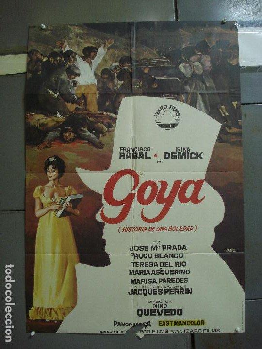 CDO 1688 GOYA FRANCISCO RABAL INMA DE SANTIS JANO POSTER ORIGINAL 70X100 ESTRENO (Cine - Posters y Carteles - Clasico Español)