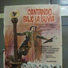 Cine: CDO 1693 CANTANDO BAJO LA LLUVIA GENE KELLY MARTI RIPOLL POSTER ORIGINAL 70X100 ESPAÑOL R-74. Lote 201751925