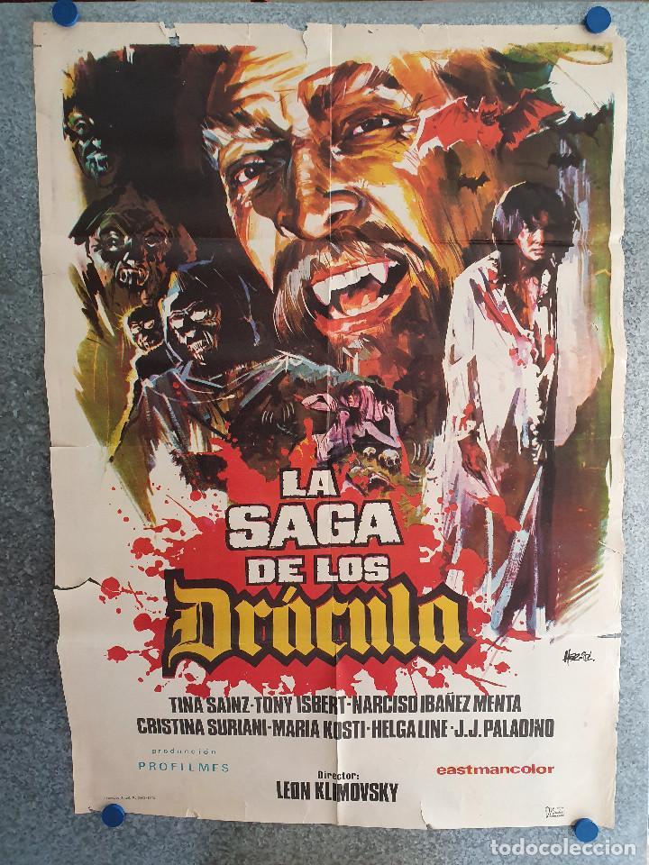 LA SAGA DE LOS DRÁCULA. TINA SÁINZ, TONY ISBERT, NARCISO IBÁÑEZ MENTA . AÑO 1973. POSTER ORIGINAL (Cine - Posters y Carteles - Terror)