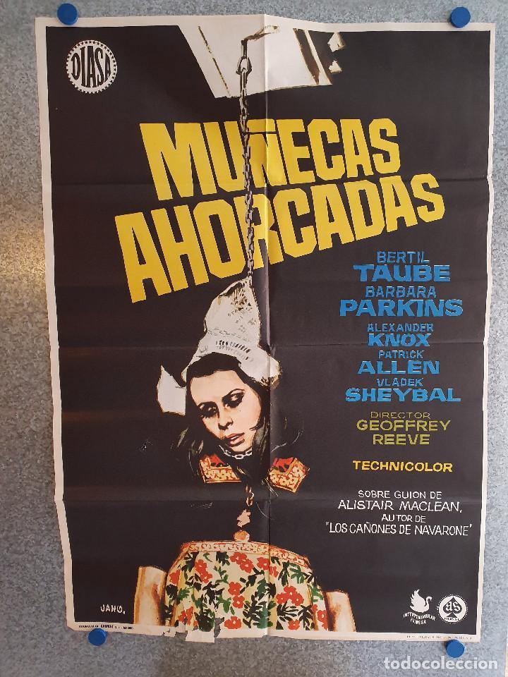MUÑECAS AHORCADAS. BERTIL TAUBE, BARBARA PARKINS, ALEXANDER KNOX. AÑO 1972. POSTER ORIGINAL (Cine - Posters y Carteles - Terror)