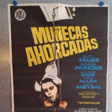 Cine: MUÑECAS AHORCADAS. BERTIL TAUBE, BARBARA PARKINS, ALEXANDER KNOX. AÑO 1972. POSTER ORIGINAL. Lote 201783398