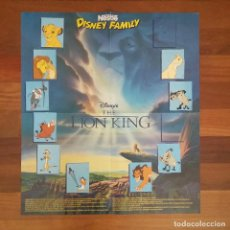 Cine: POSTER THE LION KING - EL REY LEÓN DISNEY FAMILY NESTLE. Lote 201992926
