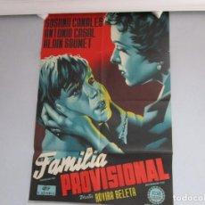 Cine: POSTER 99X70CM - FAMILIA PROVISIONAL - SUSANA CANALES, ROVIRA BELETA, ORIGINAL, FORTUNA FILMS + INFO. Lote 202031043