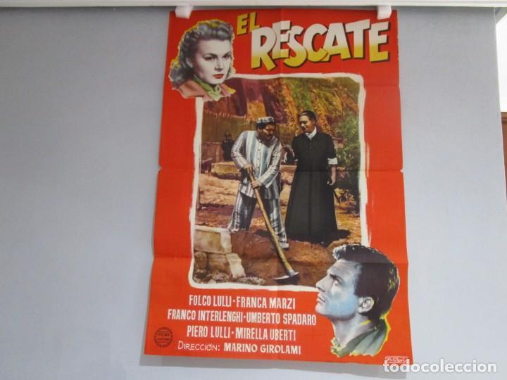 POSTER 99X70CM - EL RESCATE - FOLCO LULLI, FRANZA MARZI, ORIGINAL, FORTUNA FILMS, A. PERIS + INFO (Cine - Posters y Carteles - Suspense)