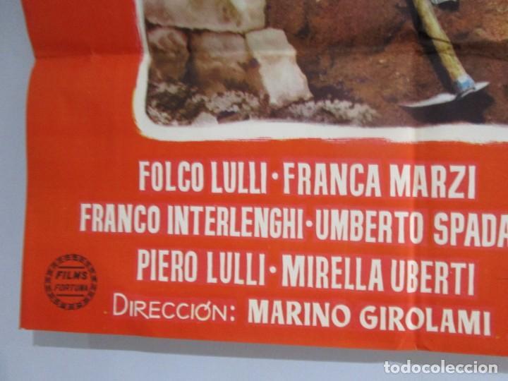Cine: POSTER 99X70CM - EL RESCATE - FOLCO LULLI, FRANZA MARZI, ORIGINAL, FORTUNA FILMS, A. PERIS + INFO - Foto 2 - 202031450