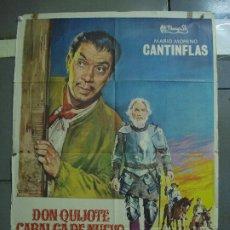 Cinéma: CDO 1700 DON QUIJOTE CABALGA DE NUEVO CANTINFLAS CERVANTES POSTER ORIGINAL 70X100 ESTRENO B. Lote 202090298