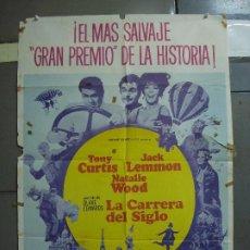 Cine: CDO 1713 LA CARRERA DEL SIGLO NATALIE WOOD JACK LEMMON TONY CURTIS POSTER ORIGINAL 70X100 ESPAÑOL. Lote 202106635