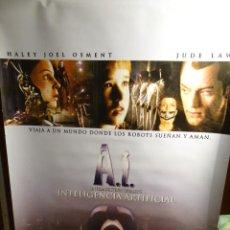 Cine: A.I. INTELIGENCIA ARTIFICIAL PÓSTER ORIGINAL 180X120CM (2001) STEVEN SPIELBERG, JUDE LAW. Lote 202110058