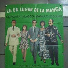 Cine: CDO 1742 EN UN LUGAR DE LA MANGA MANOLO ESCOBAR CONCHA VELASCO POSTER ORIGINAL 70X100 ESTRENO. Lote 202319613