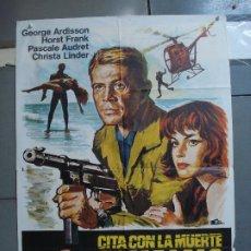 Cine: CDO 1755 CITA CON LA MUERTE EN CARACAS GEORGE ARDDISON EURO SPY ESCOBAR POSTER ORIG 70X100 ESTRENO. Lote 202325686
