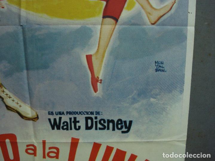 Cine: CDO 1766 PILOTO A LA LUNA WALT DISNEY TOM TRYON DANY SAVAL POSTER ORIGINAL 70X100 ESTRENO - Foto 8 - 202330672