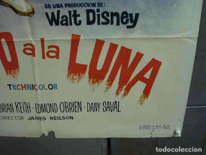 Cine: CDO 1766 PILOTO A LA LUNA WALT DISNEY TOM TRYON DANY SAVAL POSTER ORIGINAL 70X100 ESTRENO - Foto 9 - 202330672