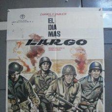 Cinéma: CDO 1803 EL DIA MAS LARGO JOHN WAYNE SEGUNDA GUERRA MUNDIAL MAC POSTER ORIGINAL 70X100 ESPAÑOL R-73. Lote 202348137