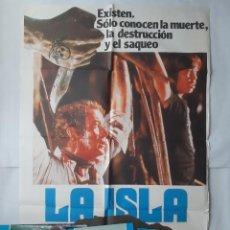 Cine: ANTIGUO CARTEL CINE LA ISLA MICHAEL CAINE + 12 FOTOCROMOS 1980 CC93. Lote 202376796