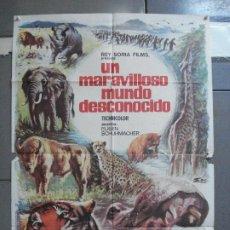 Cine: CDO 1826 UN MARAVILLOSO MUNDO DESCONOCIDO EUGENE SCHUHMACHER DOCUMENTAL ANIMALES ORIG 70X100 ESTRENO. Lote 202425522