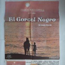 Cine: ANTIGUO CARTEL CINE EL CORCEL NEGRO FRANCIS FORD COPPOLA + 12 FOTOCROMOS 1980 CC114. Lote 202469711