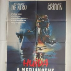 Cine: ANTIGUO CARTEL CINE HUIDA A MEDIA NOCHE DE NIRO + 12 FOTOCROMOS 1988 CC119. Lote 202472418