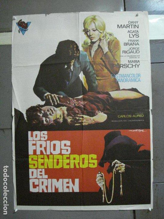 CDO 1883 LOS FRIOS SENDEROS DEL CRIMEN CARLOS AURED AGATA LYS POSTER ORIGINAL 70X100 DEL ESTRENO (Cine - Posters y Carteles - Clasico Español)