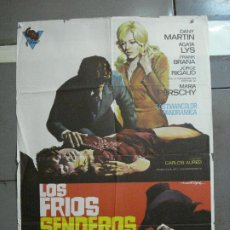 Cine: CDO 1883 LOS FRIOS SENDEROS DEL CRIMEN CARLOS AURED AGATA LYS POSTER ORIGINAL 70X100 DEL ESTRENO. Lote 202558781