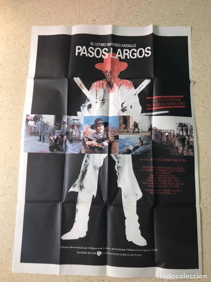 POSTER GRANDE PELICULA PASOS LARGOS (Cine - Posters y Carteles - Clasico Español)